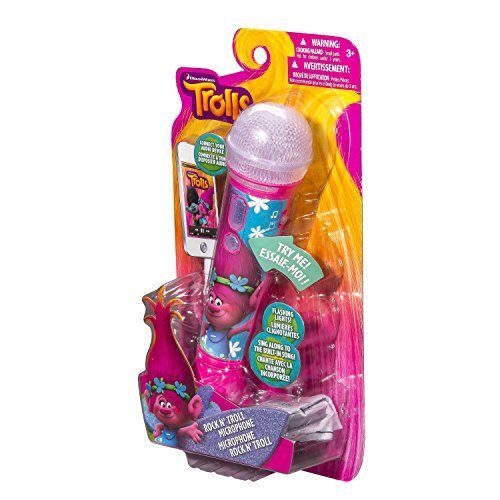 eKids Trolls Sing Along MP3 Microphone with Built in Music and Connects to Any MP3 Player