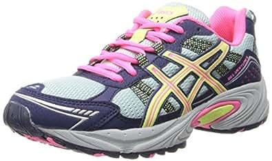 ASICS Women's GEL-Venture 4 Running Shoe (5.5 C/D US, Ice Blue/Sharp Green/Navy)