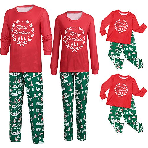 Boys Christmas Pajamas Indoor Shirt Pants Sets 2Pcs Sleep Nightwear T Shirt Outfits Duseedik ()