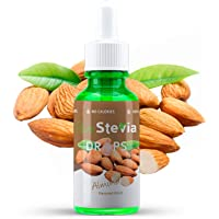 Stevia Gocce di Mandorla 50ml - Dolcificante liquido - Ingredienti naturali (Mandorla) - PureStevia