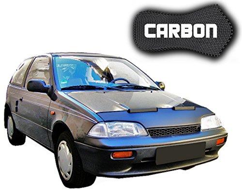 Black Bull Suzuki Swift 2 CARBON Protector del Capot Front End Cover Car Bra Bonnet Hood Tuning Coche Máscara NUEVO