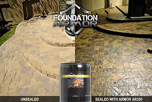 Armor AR350 Wet Look Concrete Sealer and Paver Sealer with Low Gloss Finish (1 GAL) by Foundation Armor (Image #2)