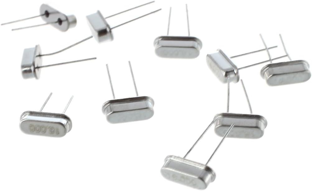 REFURBISHHOUSE 10pcs 16MHz cristal oscillateurs HC49S HC-49S Quartz Profil Bas pi rc Pour Arduino