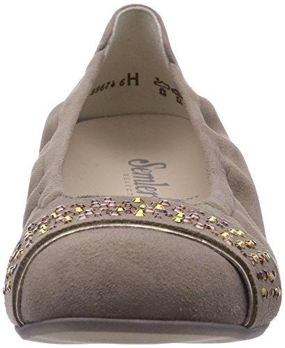 Semler Desiree Dames Gesloten Ballerina Beige (762 Panna-goud)