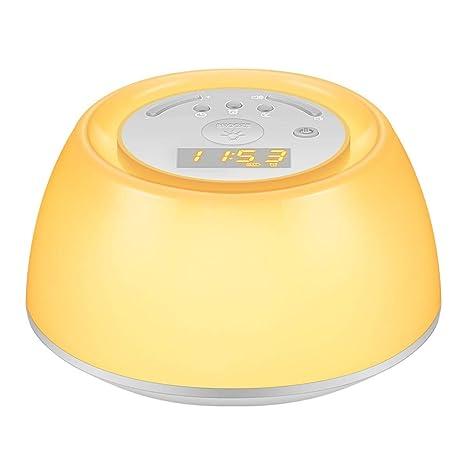 KEZIO Luz de Despertador al Lado de la lámpara Reloj ...