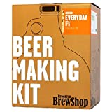 make alcohol - Brooklyn Brew Shop Everyday IPA Beer Making Kit: All-Grain Starter Set With Reusable Glass Fermenter, Brew Equipment, Ingredients (Malted Barley, Hops, Yeast) Perfect For Brewing Craft Beer At Home