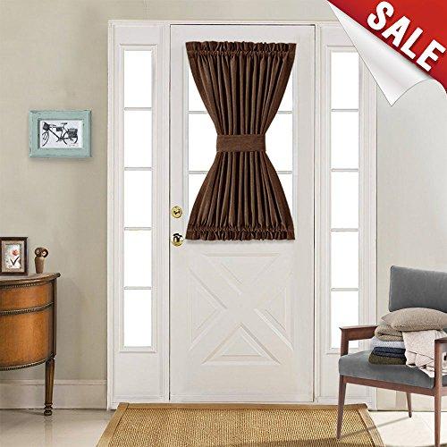 brown door curtain panel - 3
