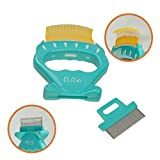 ihomiong Pet Shell Design Brush Dog Fur Remover Cat Hair Shedding Tool Grooming Comb,Yellow Teeth