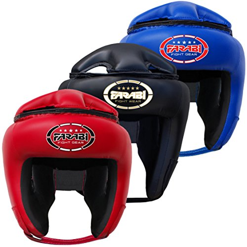 Farabi Sports Boxing Head Guard Head Protection Mma Muay Thai Kickboxing Training Head Gear (Black, Medium)