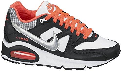Nike Air Max Command (GS) Mädchen Sneaker, Schwarz/Weiß/Rot/Silber