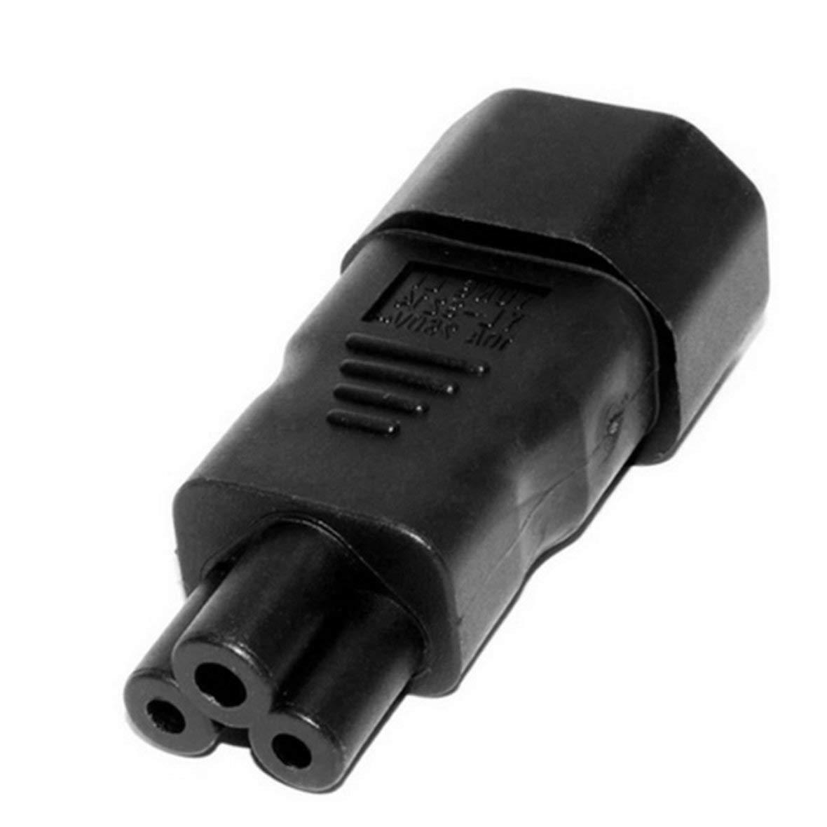 Tivolii 1pcs Plug Convertor C5 to C14 IEC320-C14 to C5 Female Power Industrial Plug Adapter ABS+Brass 10A-16A//110V-250V