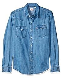 Levi's 66986-0021 Camisa para Hombre 1X Core Red Cast Stonewash H215