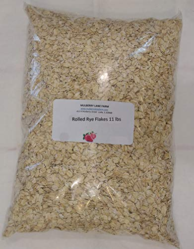 (Rolled Rye Flakes, 11 Pounds (Eleven lbs), Creamy Hot Cereal, All Natural, Non-GMO, BULK.)