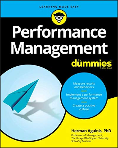 Performance Management For Dummies Front Cover