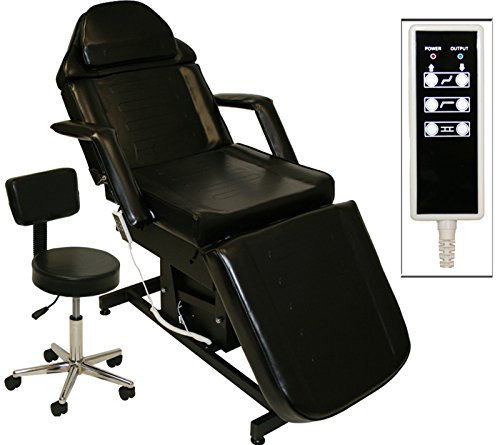 Black Electric Tattoo Massage Facial Table Bed Chair Barber Beauty Spa Salon Equipment