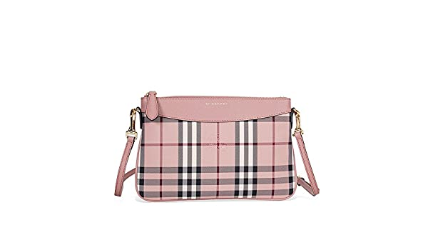 f42e13e5bba4 Burberry Horseferry Check and Leather Clutch - Ash Rose Dusty Pink   Amazon.ca  Watches