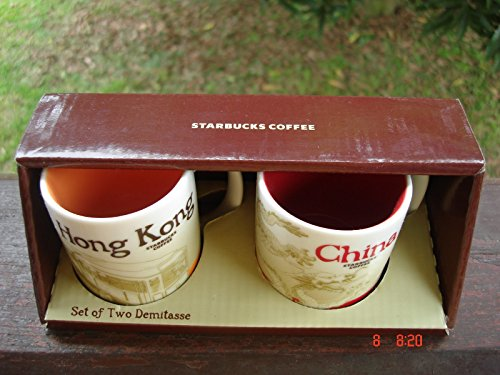 Starbucks Hong Kong China Demitasse Global City Mug 3 Oz