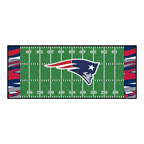 FANMATS NFL New England Patriots NFL-New Patriotsfootball Field Runner, Team Color, One Size
