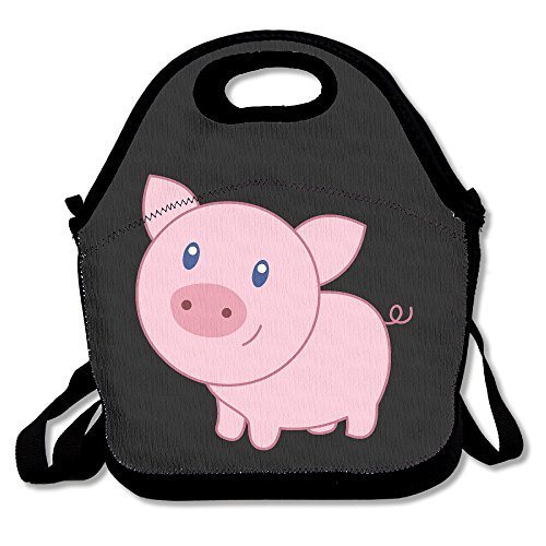 Cute Cartoon Pig Lunch Box Bag For Kids And Adult,lunch Tote Lunch Holder With Adjustable Strap For Men Women Boys Girls,This Design For Portable, Oblique Cross,double Shoulder