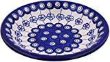 Product review for Polish Pottery Pasta Bowl 9-inch Flowering Peacock