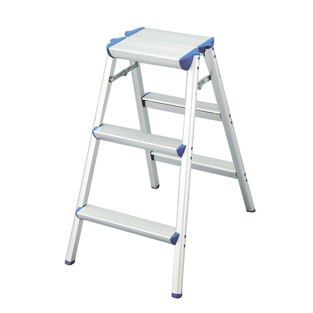 ステップスツール ポータブル2/3ステップノンスリップステップラダー多機能キッチンスツール折りたたみ自在踏み台ホームセーフティラダー150kg容量 (サイズ さいず : 3 steps) B07H4BP3QR  3 steps