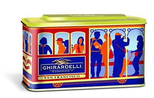 Ghirardelli San Francisco Cable Car Gift Tin, 8.26 Ounce (Pack of 6) -