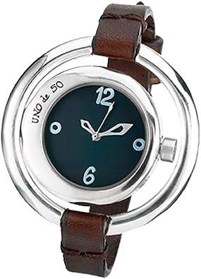 Original Reloj de Mujer bañado en Plata con Doble Esfera ...