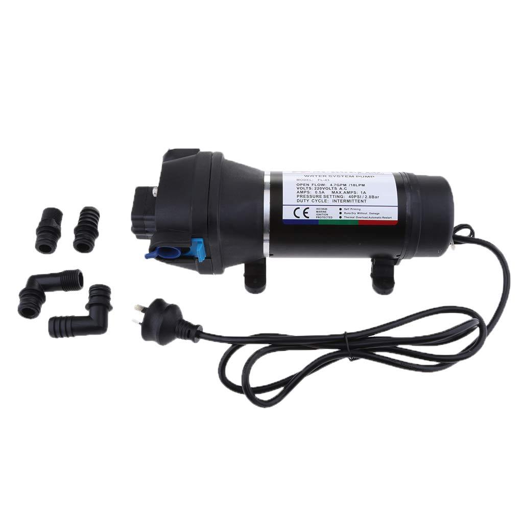 Homyl 220V Pompe Auto-Amor/çante /à Diaphragme pour Bateau Marine Yacht RV