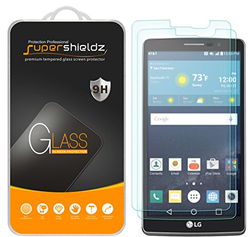 (2 Pack) Supershieldz for LG (G Vista 2) Tempered Glass Screen Protector, Anti Scratch, Bubble Free (Cell Phone Covers Lg T Mobile)