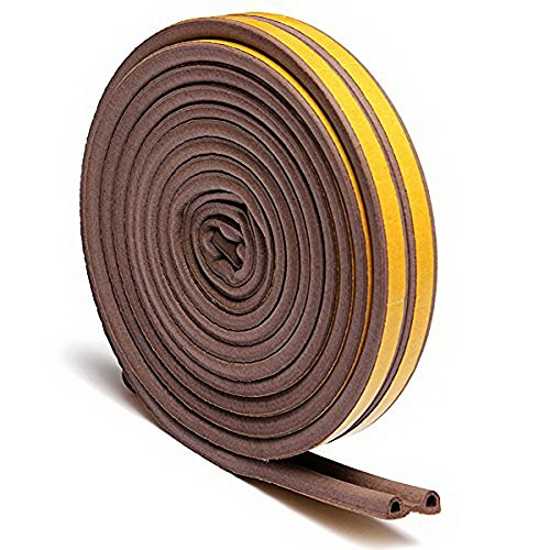 New Heavy-Duty Self Adhesive EPDM Rubber Weatherstrip Seal Doors and Windows (brown, P - Eyeglass Film Tint