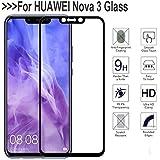 Micah Huawei nova 3 tempered Glass Full Body Edge to Edge Black Colour Gorilla Anti Explosion Screen Protector