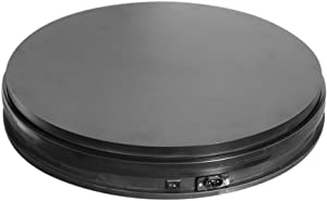 Fotoconic Black Electric Motorized Rotating Turntable Display Stand, 14 Inch / 35cm Diameter, 110 Lb Centric Loading for Shop Display