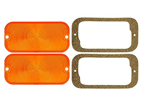 New 1961-64 Ford Galaxie, 1964-65 Fairlane, Thunderbird, Bronco, Comet Park Lamp / Turn Signal Lenses (EBC4OZ-13208KT) Turn Signal Lens Gasket