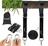 [UPGRADE] DREAMIO GARDEN Tree Swing Straps Hanging Kit (Set of 2) - ADD 50% Strong materials - 10FT Rope, 3600lbs - More Heavy Duty, Hardware - For Kids & Adults & Baby & Outdoor net, tire, hammock