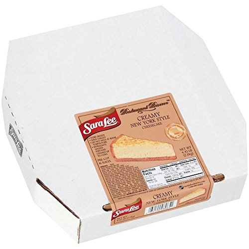 Sara Lee Restaurant Reserve Round New York Style Creamy Cheesecake, 10 inch -- 4 per case.