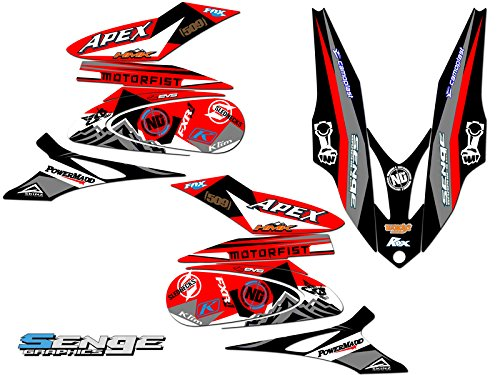 Compatible with Yamaha 2006-2011 Apex, Savage Red Sled Wrap Kit ()