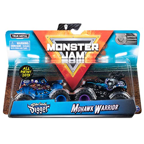 Monster Jam Official Son-uva Digger vs Mohawk Warrior Die-Cast Monster Trucks, 1:64 Scale, 2 -