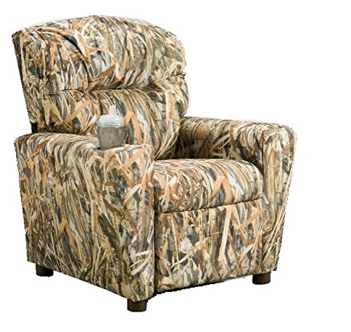 Brazil Furniture 401C-flooded Timber camo Children's Home Theater Recliner with Cupholder, Flooded by Brazil Furniture