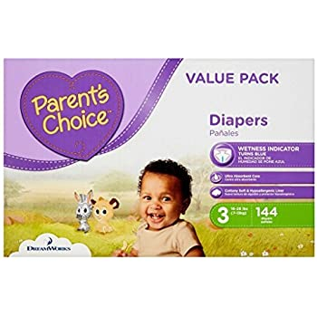 Parents Choice Disposable Diapers - Size 3 - 144 Count (Size 3) (1 Pack)