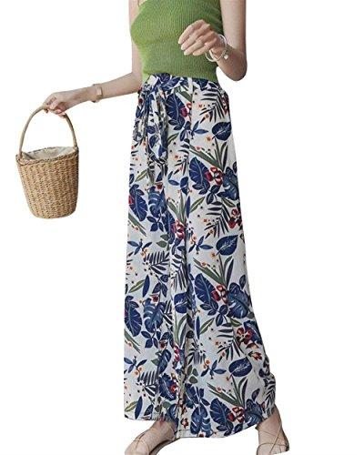 Pantalon Jupe Femme Et Elgante Lanires Taille Haute Imprim Pantalons Palazzo Trousers Ar Confortable Jupe Pantalon Pantalons De Plage Spcial Style Loisir Blanc
