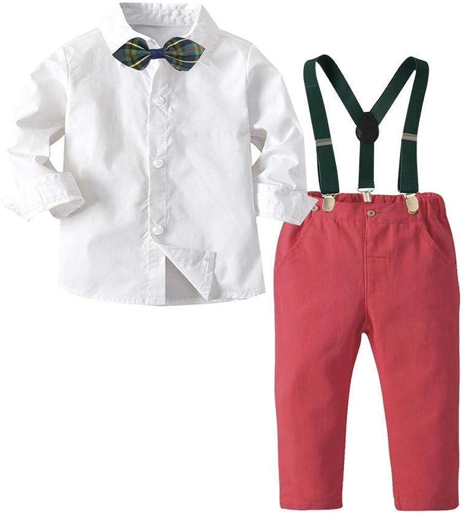 KIDsstz - Conjunto de Ropa para bebé, Camisa Blanca, Traje Infantil, otoño, niño, Camisa Blanca, Ideal para cumpleaños Blanco 80 cm: Amazon.es: Ropa y accesorios