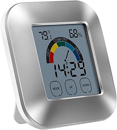 Home Luminous Digital Hygrometer Indoor Thermometer Humidity Gauge and Backlight Temperature Humidity Monitor Not Included Battery