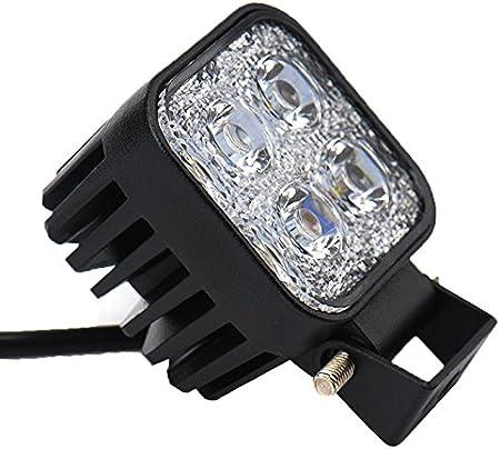 ,12V 24V Long Barre Carr/é Feux de Jour LED Imperm/éable IP67 Spot Ext/érieur /Éclairage 90 degr/é 18 Watt ALPHA DIMA 2X 18W 36W 72W Phare de Travail LED Lampe Voiture Barre