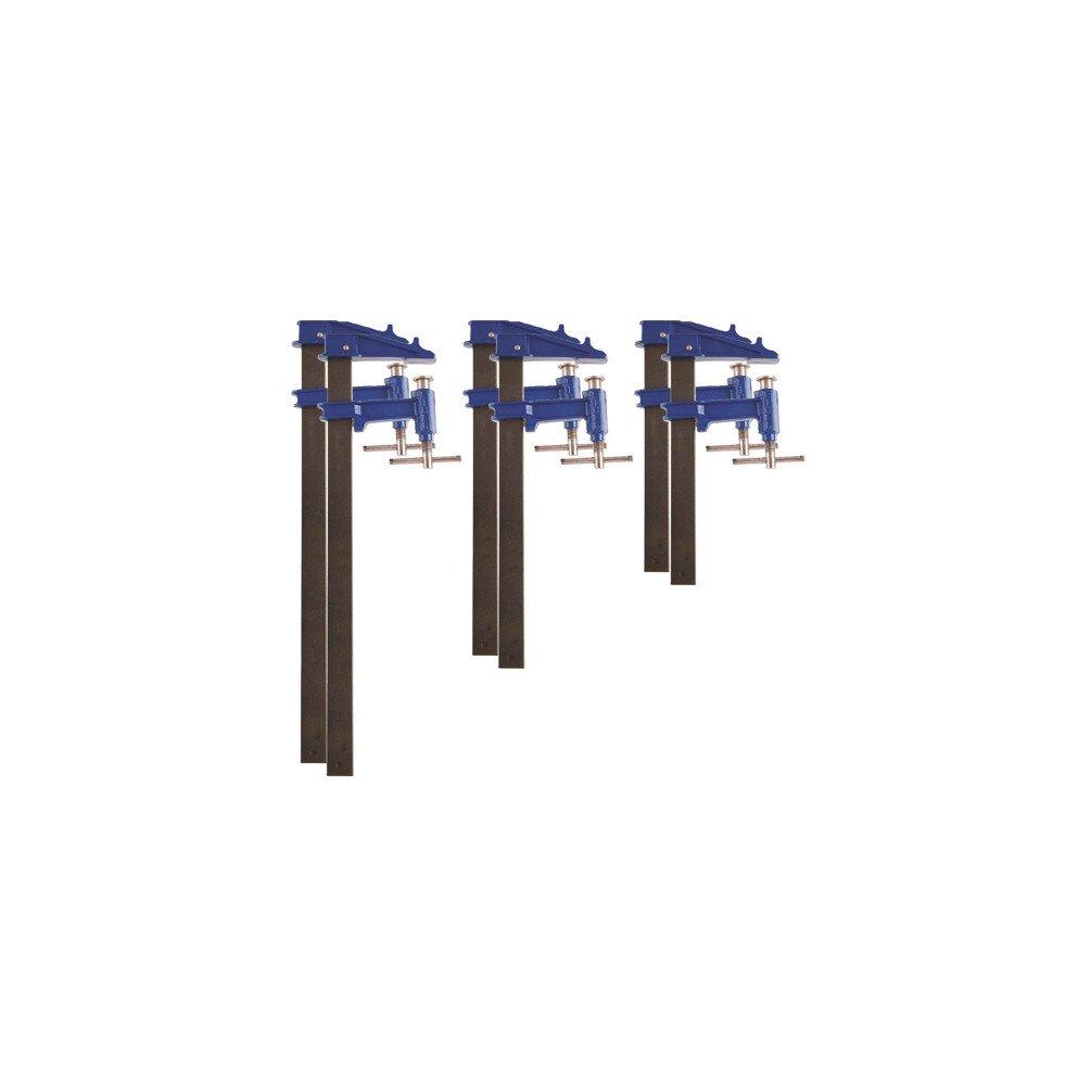 Piher - 6 serre-joints à pompe 35 x 8 mm - 2 x L. 40 cm, 2 x L. 60 cm, 2 x L. 80 cm de type F - 99980 - Piher