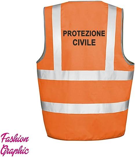 L//XL Fashion Graphic Gilet Alta visibilit/à Giallo Giubbotto Tre Taglie Catarifrangente Sicurezza Auto Moto ISO EN20471 /…