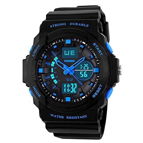 Kids Digital Sports Watch – Boys Waterproof Analog Military Watches With Alarm,Wrist Watch For Children