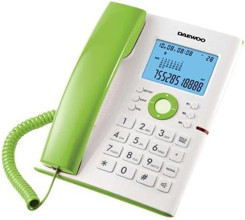 Daewoo DAE30DTC370V - Teléfono, Color Blanco y Verde: Amazon.es: Electrónica
