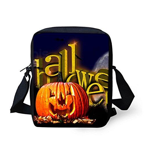 Mini Design Bags Handbags Halloween Pumpkin Trick Candy or Treat Halloween 6 Bags body Cross Coloranimal Y8wCqxSOx