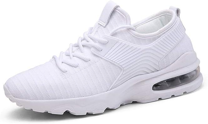 SHENYUAN Zapatillas de deporte de moda for hombres Zapatos for caminar Estilo de cordones Cojín de aire Malla ligera Farbric Suelas de amortiguación Plantillas de látex Zapatillas de deporte de alta e: