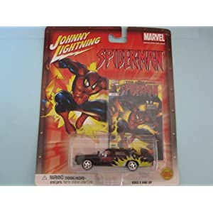 Spiderman Dodge Monaco- By Johnny Lightning-black/flames by Johnny Lightning